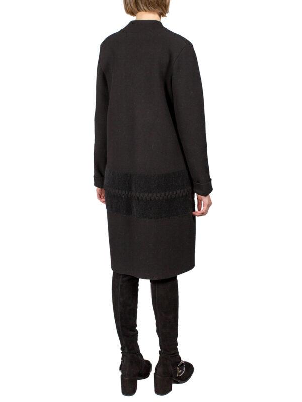 Пальто D. Exterior черное вязанное