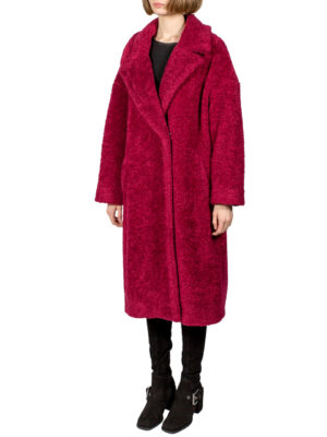Пальто Imperial малиновое букле