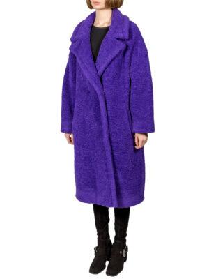 Пальто Imperial фиолетовое букле