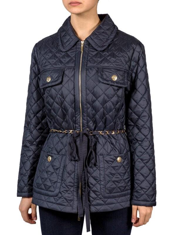 Куртка Luisa Spagnoli синего цвета с накладными карманами